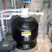 Swimming pool filter install
