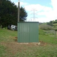 New colour steel pump shed